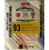 ZOLFO CORRETTIVO 93 GIALLO KG. 10 POLVERE SECCA PER AGRICOLTURA VERDURA