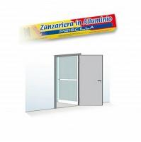 Zanzariera per Porta e Finestra 1 ANTA a Battente Alluminio BIANCO 100x240 Cm