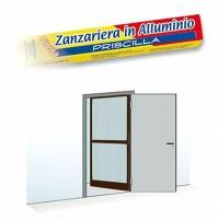 Zanzariera per Porta e Finestra 1 ANTA a Battente Alluminio MARRONE 100x240 Cm